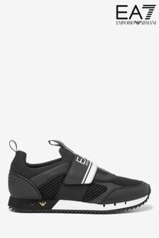 Черно-белые беговые кроссовки Emporio Armani EA7 Evolution