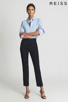 Reiss Blue Hayes Slim Fit Tailored Trousers