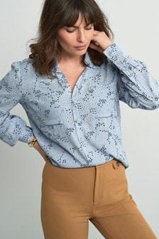 قميص ياقة كشكش