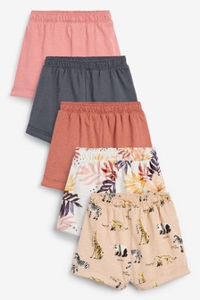 Confezione da 5 shorts squadrati (3 mesi - 8 anni)