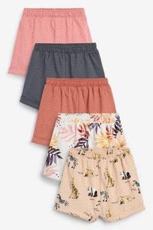 5 Pack Boxy Shorts (3mths-8yrs)
