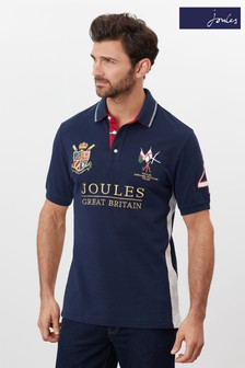 Joules Blue Millford Embellished Polo