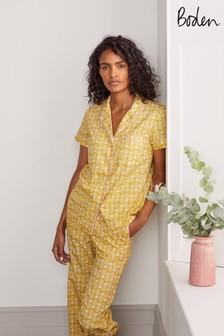 Boden Phoebe Pyjama-Oberteil, Gelb