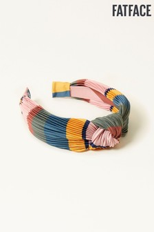 FatFace Pink Stripe Pleated Hairband