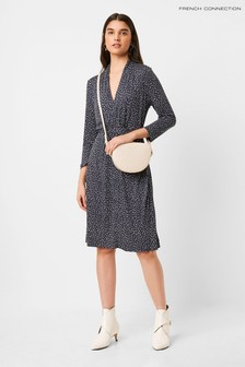 French Connection Jersey V-Neck Dress