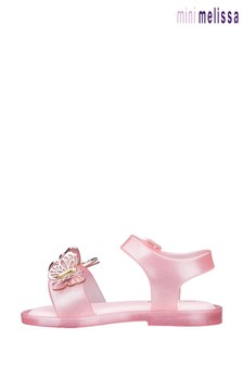 Mini Melissa Pink Butterfly Sandals