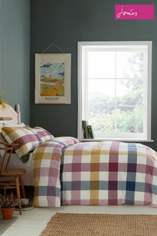 Joules Country Ramble Check Cotton Duvet Cover