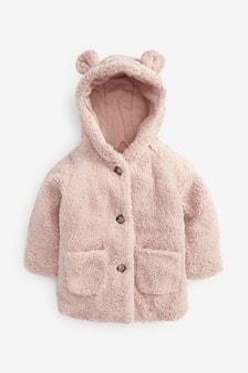 Куртка из искусственного меха на пуговицах (12 мес. - 7 лет)