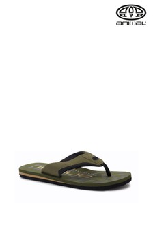 Animal Dusty Olive Green Jekyl Logo Too Flip Flops