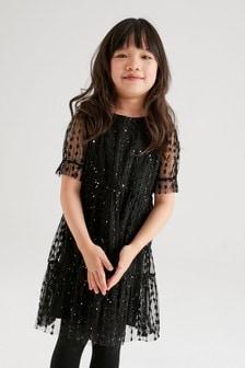 Tiered Sparkle Dress (3-16yrs)