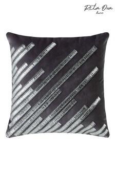 Rita Ora Silver Strobe Cushion
