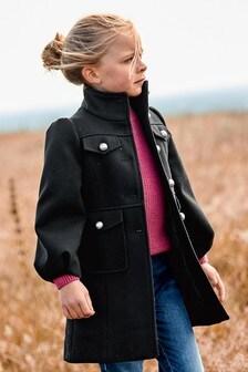 Пальто в стиле милитари (3-16 лет)
