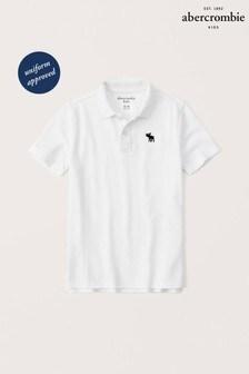 Abercrombie & Fitch Poloshirt, weiß