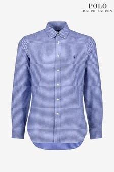 Chemise slim Polo Ralph Lauren bleue