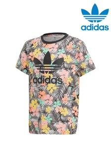 Tričko s tropickou potlačou Adidas Originals