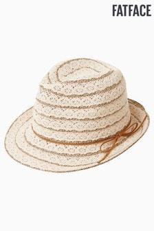 Pălărie FatFace crem cu dantelă