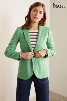 Boden Green Atkins British Tweed Blazer