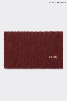 Czerwony szalik Tommy Hilfiger Branded