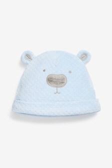 """Велюровая шапка с дизайном """"медведь"""" (0-18мес.)"""