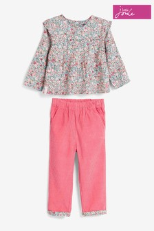 Joules Sophia Woven Top and Cord Trouser Set