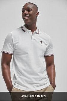 Рубашка поло классического кроя с отделкой
