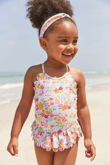 2 Piece Set Swimsuit And Headband (3mths-7yrs)