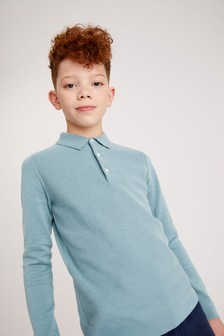 Knitted Textured Polo (3-16yrs)