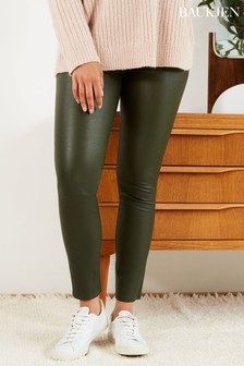 Baukjen Green Lauren Leather Leggings