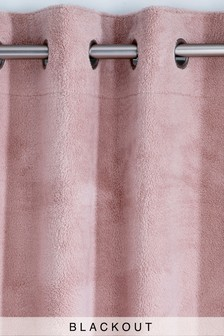 Supersoft Fleece Eyelet Blackout Curtains