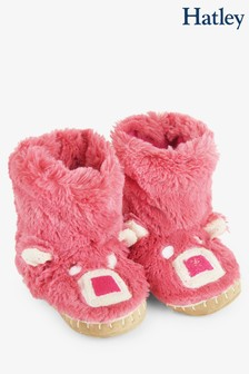 Hatley LBH Kid's Pink Bear Slippers