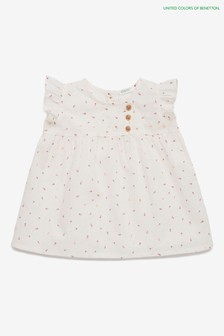 Benetton White Dress