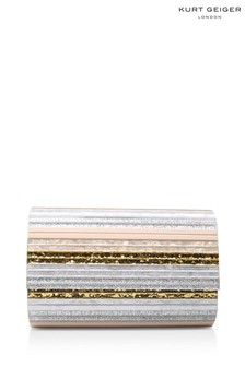 Kurt Geiger London Party-Clutch mit Umschlag, Nude