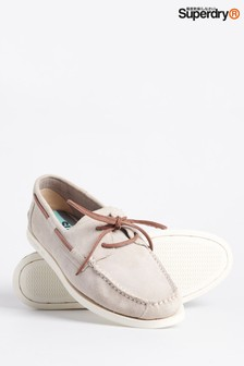 Superdry Taupe Deck Shoes