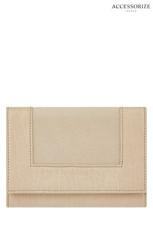 Accessorize Cream Tara Croc Wallet