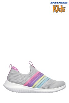 Skecher® Grey Ultra Flex Brightful Day Trainers