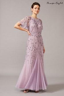 שמלה עם פייטים של Phase Eight דגם Florisa בסגול