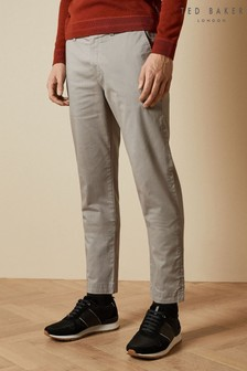 Ted Baker Grey Sleepe Printed Cotton Chinos