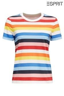 Esprit Mehrfarbig gestreiftes T-Shirt, Blau