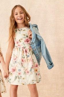 Festliches Kleid mit floralem Muster (3-16yrs)