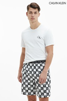 Calvin Klein白色CK One睡衣短褲套裝