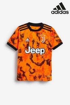 adidas Orange Juventus Third 20/21 Football Shirt