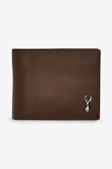 Leather Stag Badge Extra Capacity Wallet