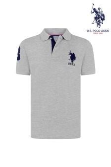قميص بولو بشعار فرسان مزدوج كبير منU.S. Polo Assn