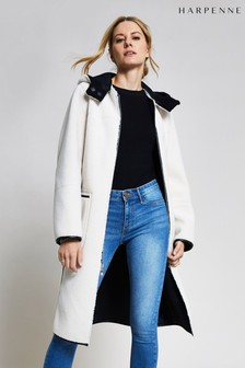 Harpenne Black Cream Reversible Faux Shearling Coat