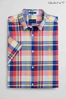 GanT Classic Madras Short Sleeve Camicia