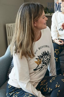 Matching Family Womens Christmas Hedgehog Pyjamas