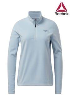 Reebok Fleece-Sweatshirt mit 1/2-Reißverschluss, Grau
