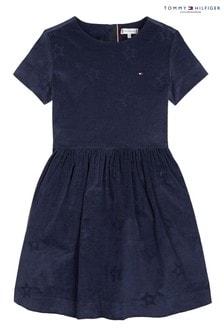 Tommy Hilfiger Kleid mit Sternstickerei, Blau