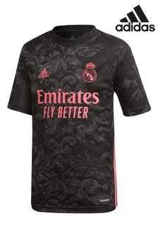 adidas Black Real Madrid 20/21 Football Shirt