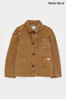 White Stuff棕色孩子迷你我木匠夾克/外套